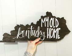 My Old Kentucky Home Wood Piece by KacieSlack on Etsy https://www.etsy.com/listing/265557370/my-old-kentucky-home-wood-piece