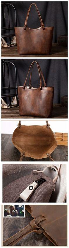 Leather Women Tote Bag, Shopping Bag, Shoulder Bag