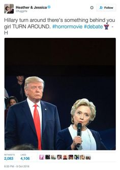 10/14/16  10:52p   Memes from the Second Presidential Debate: There's Something Behind You  about.com