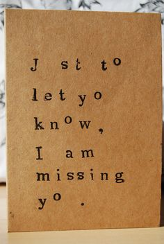 darling missing u card