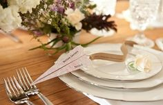 Paper plane escort cards>>>>Tell your ARIZONA FRIENDS that the LEFT SEAT WEST, an AVITATION THEMED restaurant in Glendale, Arizona is a great place for their next party!  Check out our Facebook page! http://www.facebook.com/pages/Left-Seat-West-Restaurant/192309664138462