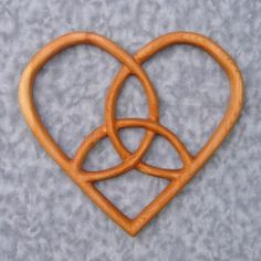 Cool wooden celtic carved heart $58.00 from Etsy.