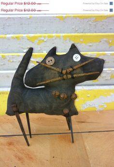 Spring Forward Sale Primitive Junkyard Cat by Rabbithollowprims, $10.80