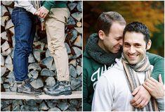 Siegrid cain stylish gay couple autumn engagement Austria