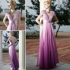 A-line/ Princess V-neck Floor-length Tencel Purple Evening Dress Purple Evening Dress, Purple Cocktail Dress, Chiffon Evening Dresses, Cheap Prom Dresses, Prom Party Dresses, Bridesmaid Dresses, Dresses Uk, Concert Dresses, Victoria