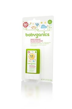 Babyganics Pure Mineral Sunscreen Stick SPF 50, .47oz (Pack of 2), Packaging May Vary $13.98 (save $3.00)