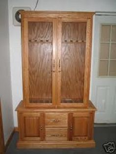 How To Build Your Own Gun Cabinet | GUNS!!! | Pinterest | Guns, Woodworking  And Wood Projects