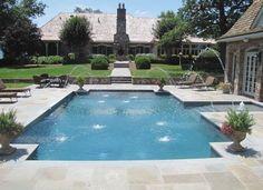 luxus pool family pool für den garten | luxuriöse designs von pool ... - Schwimmingpool Fur Den Garten