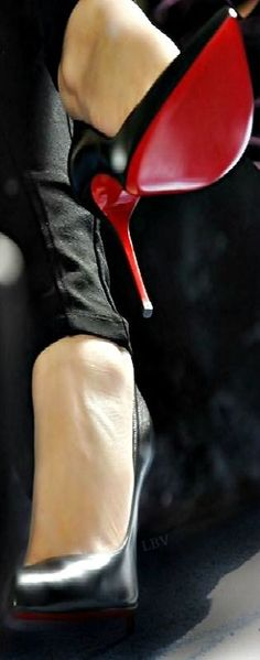 Street fashion...Red Bottoms   LBV A14 ♥✤