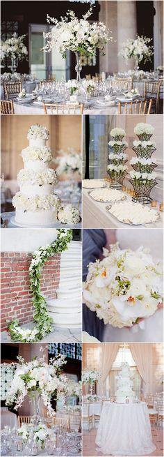 Featured Photographer: Lori Paladino Photography; white wedding reception idea