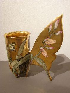 """porcelain Art NEW__ Irina Zaytceva  """"Swallowtail"""",  porcelain"""
