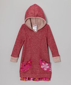 Red Hooded Sweater Dress - Toddler & Girls | Daily deals for moms, babies and kids