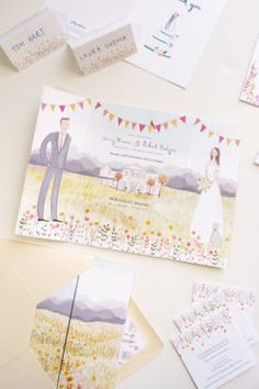 beautiful custom wedding stationery