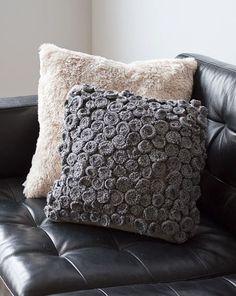 DIY ● Tutorial ● Textured Spiral Pillow