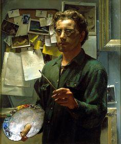 Jacob Collins Self Portrait with Palette Oil on canvas
