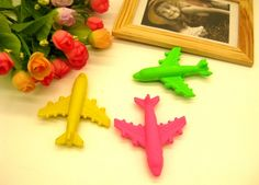 Airplane Shaped Rubber Erasers