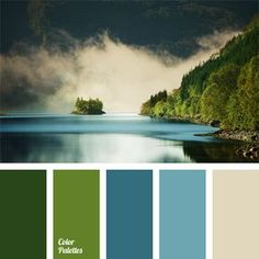 Color inspiration for design - color palette - teal, French blue, bisque, moss green and earthen green Nature Color Palette, Blue Colour Palette, Color Palate, Colour Schemes, Color Combos, Gold Colour, Color Azul, Office Color Schemes, Green Palette