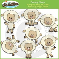 Sammy Sheep Clip Art Download
