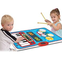 SainSmart Jr 2in1 Foldable Music Mat Functional Jam DrumPiano Playmat Recordable Musical Instruments Black Friday Deals * Check this awesome product by going to the link at the image.
