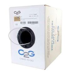 C2G 1000' Cat5e Plenum Cmp White 56005 https://foxgatemarketing.com/product/c2g-1000-cat5e-plenum-cmp-white-56005/ 1000' CAT 5E 350MHz SOLID PLENUM CMP CABLE - WHITE. With voice data video and security capabilities Cables To Go's Cat5e 350Mhz Bulk Cable is ideal for your network installation. Whether you are wiring your home office or entire campus Cables To Go has the solution that s right for you...
