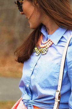 Statement Necklace - Classy Girls Wear Pearls