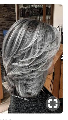 68 Ideas For Hair Color Gray Highlights Grey Haircuts hair highlights 68 Ideas For Hair Color Gray Highlights Grey Haircuts Medium Hair Styles, Short Hair Styles, Grey Hair Styles, Silver Hair Styles, Long Gray Hair, Hair Color Silver Grey, Gray Color, Gray Ombre, Grey Hair For Over 60