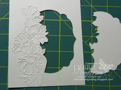 Partial -cut Framelit shape, Stampin' Up! products by Debbie Henderson, Debbie's Designs.