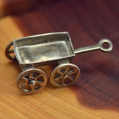 Vintage Sterling Silver 3D Wagon Cart Moves 1 7g Charm Pendant PS302 | eBay