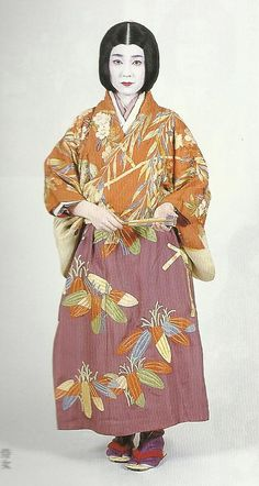 """Scan G1 : Scans from book """"The History of Women's Costume in Japan."""" Scanned by Lumikettu of Flickr. Exacting recreation of Japanese costume many centuries ago…"""