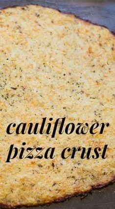 Pizza Crust Recipe: Delicious & Healthy Cauliflower Pizza Crust - Have you tried a cauliflower pizza crust recipe yet?Cauliflower Pizza Crust - Have you tried a cauliflower pizza crust recipe yet? Low Carb Recipes, Cooking Recipes, Healthy Recipes, Healthy Cauliflower Recipes, Health Benefits Of Cauliflower, Califlower Recipes, Comidas Light, Healthy Snacks, Healthy Eating