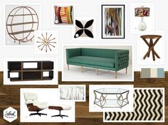Mid-Century modern living room furniture is so popular and we love it. // www.LookNook.co
