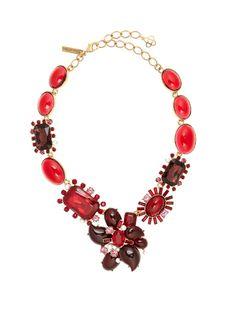 Oscar De La Renta Floral crystal-embellished necklace