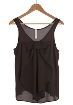 Hello, Bow! Top in Onyx, #ModCloth