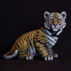 Tiger Cub from Edge Sculpture by Matt Buckley – Artworx Gallery Tiger Artwork, Tiger Cub, Contemporary Sculpture, Wooden Wall Art, Hand Cast, Sculpture Clay, Animal Sculptures, Clay Art, Big Cats