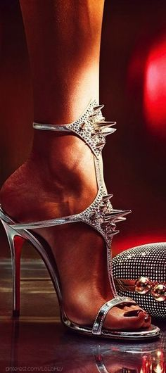 chrisitan louboutin 118 dollarrrr... My girl hates spikes, but I think she can make an exception for these!!