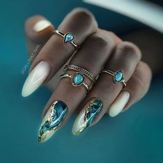 Bling Acrylic Nails, Glam Nails, Best Acrylic Nails, Bling Nails, Cute Nails, Elegant Nails, Stylish Nails, Cute Acrylic Nail Designs, Nail Art Designs