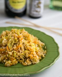 Cabbage Fried Rice. So easy and done in under 30 minutes. The whole family loved it! @NatashasKitchen