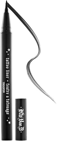 Kat Von D Tattoo Liner, What it is: A liquid eyeliner with an innovative brush tip for effortless, precise application. What it does: Achieve eye perfection with this high-pigment, waterproof liner that stays put all day for a fade-, melt-, crack-, and run-resistant finish. The superfine and flexible brush tip glides across the lashline for incredibly fluid application, allowing you to create a variety of looks with ease.