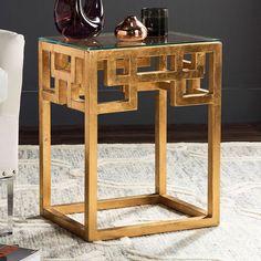 Safavieh Byram End Table, Gold