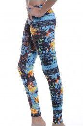 Blue Lagoon Leggings/ Yoga Pants