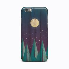 Wood Night Moon Hard Case Cover For Apple iPhone 4 4S 5 5S 5c SE 6 6S 7 Plus #Apple