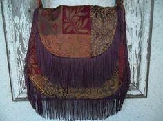 Hippie Bohemian Bag Purse Patchwork Chenille by ZojjaUniquelyYou