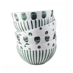 Bowl with green dots - Merci