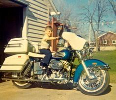 Me in 1972 on my Dad's Harley.