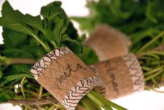 Eco-Friendly Food Packaging - Tina Jeler Creates Herb Labels are Biodegradable and All-Natural (GALLERY)