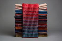 Inga Sempé for Roros tweed wool textiles. Blankets available through Morlen Sinoway Atelier - www.morlensinoway.com