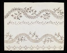 1782-1794 pattern for petticoat or gown - Victoria & Albert Museum costume collection