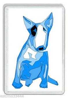 ENGLISH BULL TERRIER  BLUE DOG FRIDGE MAGNET BRAND NEW GIFT