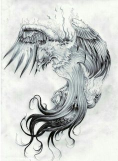 Phoenix Tattoos design for Men - Phoenix Tattoos Meanings. Check out the list of most beautiful Phoenix Tattoos ideas which you can have. Kunst Tattoos, Bild Tattoos, Tattoo Drawings, Body Art Tattoos, New Tattoos, Sleeve Tattoos, Tattoos For Guys, Cool Tattoos, Tatoos