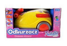 Odkurzacz Natalia, wydaje dźwięki oraz imituję wciąganie śmieci.  #rozwoj_dziecka #supermisiopl